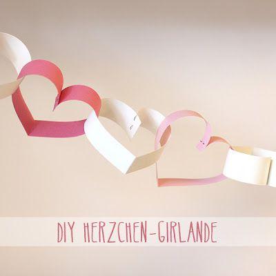 DIY: Herzchen-Girlande   für den Valentinstag <3 (http://aentschie.blogspot.de/)