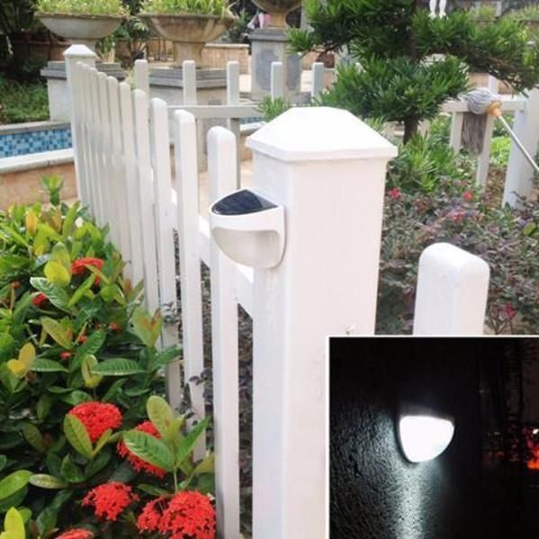 6LED Solar Power Dusk to Dawn Light Outdoor Yard Garden Wall Lamp Waterproof