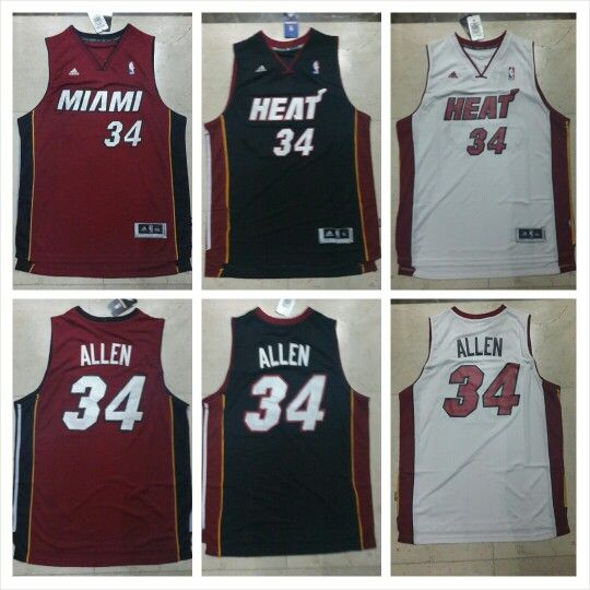 READY STOCK ! READY STOCK!!  JERSEY BASKETBALL NBA MIAMI HEAT RAY ALLEN #34 SWINGMAN REVO30 FOR SALE  INTERESTED?  FOLLOW US @KORIONZ  CONTACT US! BB 28BCBB04 LINE LEONARDUSMARVIN WHATSAPP +62-838-7033-0922