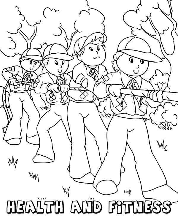 Fitness Coloring Pages Coloring Pages Boy Scouts Scout
