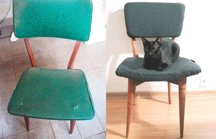 Como reformar / estofar uma cadeira antiga // palavras-chave: faça você mesma, DIY, passo a passo, inspiração, ideia, tutorial, decoração, design de interiores, barato, estofar, cadeira, reforma