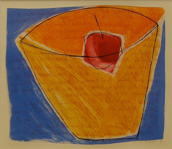 Een koninklijke borrel met oranje, rood, wit en blauw ;-) José Juten - Kers in glas - zeefdruk / #silkscreen