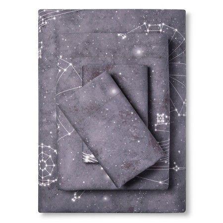 Star Wars® Constellations Sheet Set Full - Grey - 4 Piece : Target