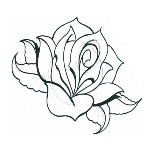 24 best rose tattoo designs printable images on pinterest rose tattoos tattoo designs and babys. Black Bedroom Furniture Sets. Home Design Ideas