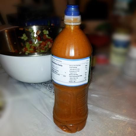 The Best French Salad Dressing. Just made this-I love it! I halved the recipe and it fit just perfectly in my yellow condiment server (the mustard/ketchup sets). I may add a tad less onion next time, but will be making again and again. -AMR