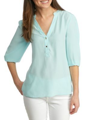 Sail To Sable Women's Mint Top With Gold Buttons -  - No Size