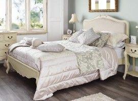 Poze PAC51 - Pat Dublu tapitat dormitor, pentru somn linistit - Crem/Cafeniu