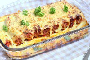 Pasta - Zeit = Cannelloni - Zeit.   Heute gibt es mal einen Klassiker der italienischen Küche.   Cannellonis mit Hackfleisch gefüllt. Überg...