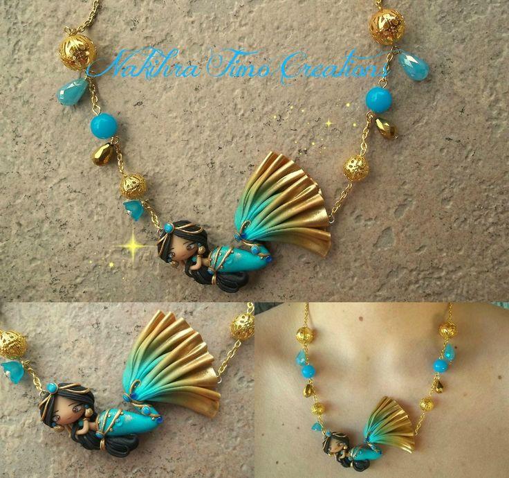 Jasmine Mermaid Princess by Nakihra.deviantart.com on @DeviantArt