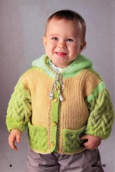 Детская кофта вязание схема