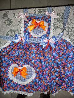 Eu estava grávida e queria um vestido, fiquei com medo de apertar a barriga, por isso fiz esse avental. Todos que olhavam achavam que era u...