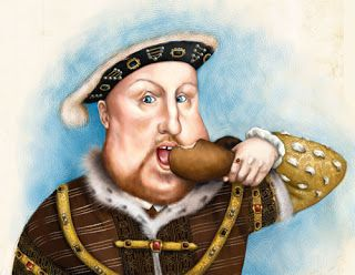 Henry VIII fat eating Hendrik 8 King koning Royal König Fürst Britain England 6 wives