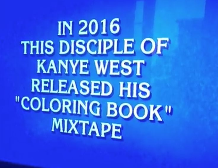 """Chance The Rapper's star is continuing to rise and Alex Trebek has taken notice. Chano was an answer on a recent episode of Jeopardy and the $1200 clue was """"In 2016 this disciple of Kanye West released his Coloring Book mixtape. Watch below. okay @chancetherapper really just had his own Jeopardy"""