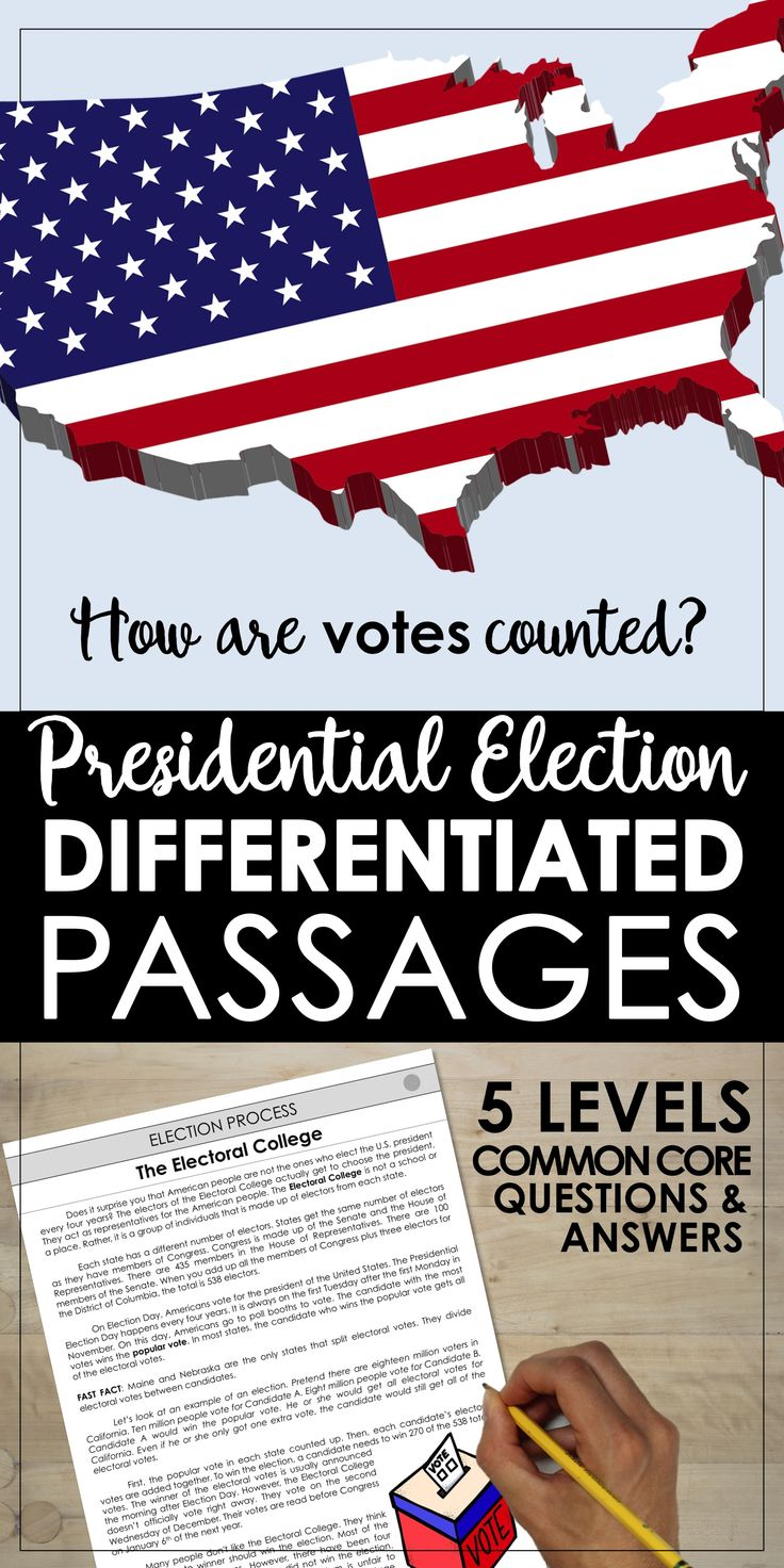 worksheet Leveled Reading Passages die besten 17 ideen zu leveled reading passages auf pinterest presidential election differentiated how are votes counted the electoral