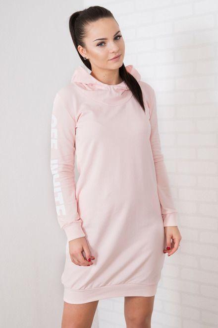 Športové šaty s kapucňou ružové  293c68c0f1e