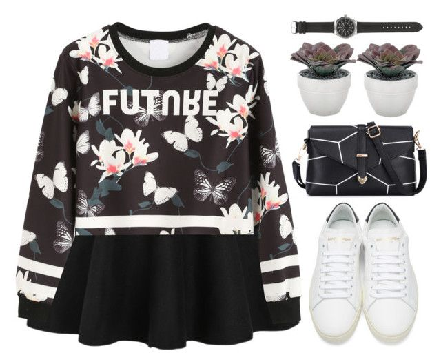 """Futuristic"" by m-zineta ❤ liked on Polyvore featuring Yves Saint Laurent, Torre & Tagus and J.Crew"