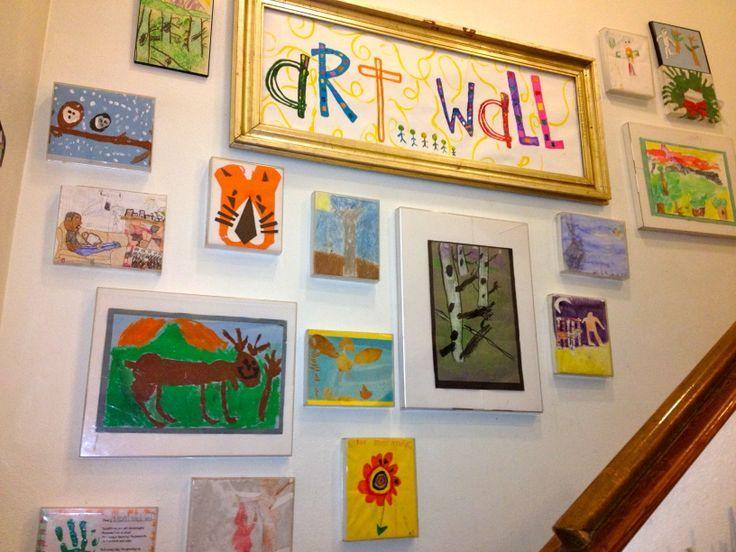 Creative ways to display kids 39 art summer art projects for Creative ways to display artwork