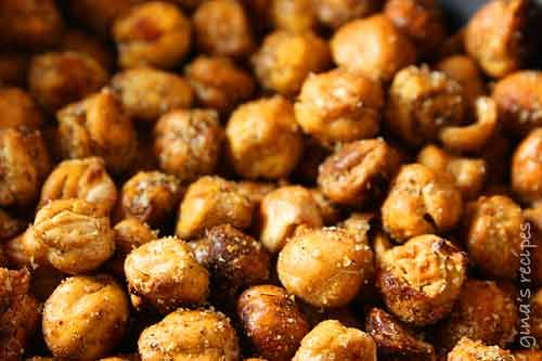 Roasted Chick Peas.  This is a spicy version but I bet this would be good in Ranch flavor too....