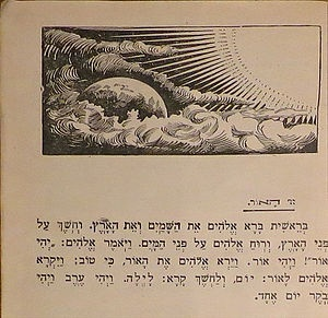 Genesis 1:1-3 In the beginning  God  created the heaven and the earth. And the earth was without form, and void; and darkness  was upon the face of the deep.  And the Spirit of God  moved  upon the face of the waters. And God said,  Let there be light:  and there was light.