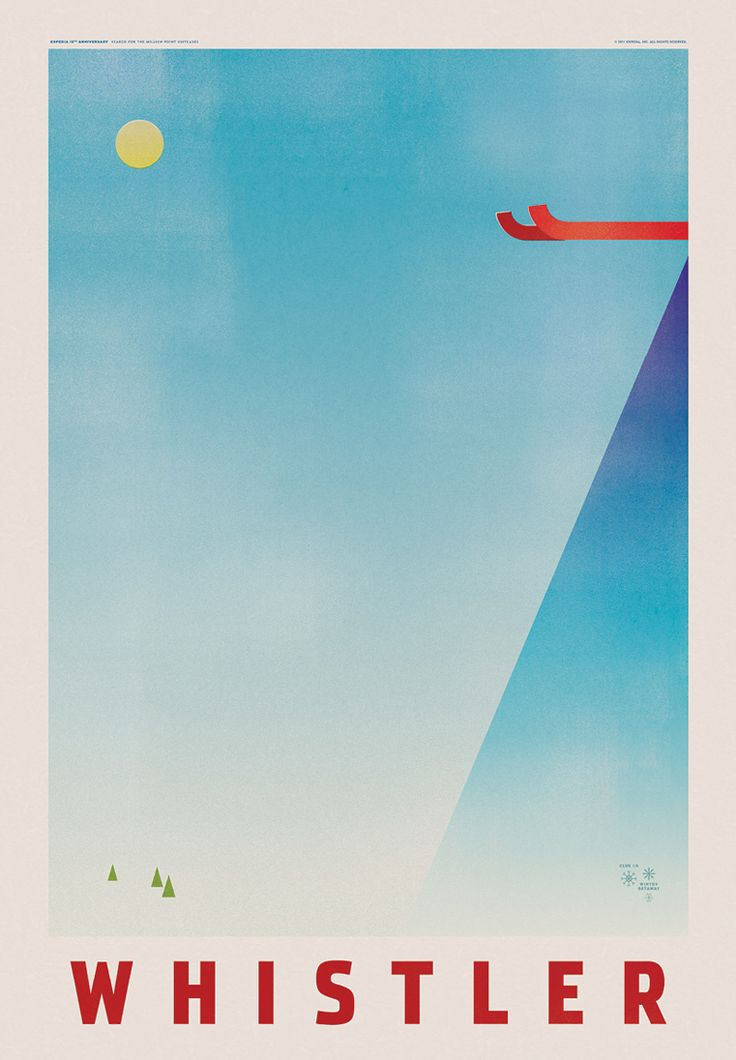 Expedia Travel Posters, Whistler, Blackcomb Ski Resort, Canada.