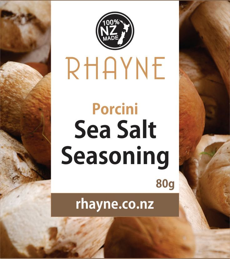 Porcini Sea Salt by rhaynespice on Etsy