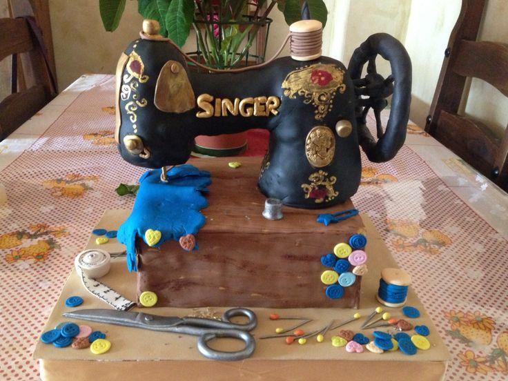 Cake singer tarta máquina de coser. Harinitas dulces en Facebook