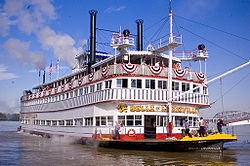 Belle of Louisville Steamboat is said to hold the all-time record in her class for miles traveled, years in operation, and number of places visited.