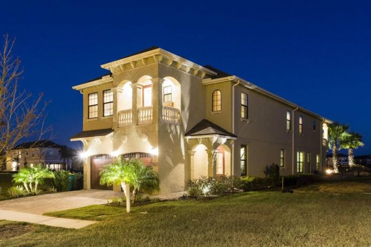 A perfect family villa with south facing pool deck, pool, spa, summer kitchen and firepit. (Propane gas for summer grill and firepit available locally) Two floors, with bedrooms both upstairs and downstairs, this is an excellent choice for vacationers heading to Orlando's nearby theme parks with family and friends.  The spacious home is fully equipped for a short family break, a long vacation or extended stay. A fully equipped kitchen, laundry room and close proximity to great grocery st...