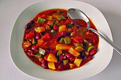 Rote Bohnen - Suppe mit Paprika und Tomaten 5