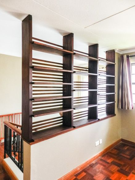 GRM Shelving This New Set Of Shelves Rests On An Existing Half Wall