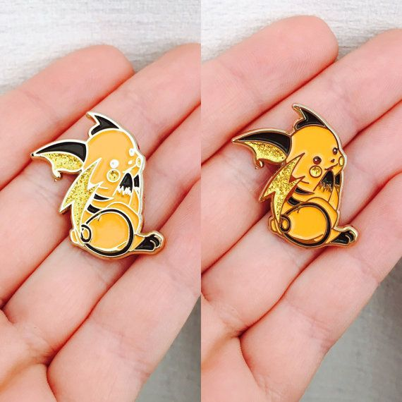 Shiny Raichu enamel pin by CozmicPinz on Etsy
