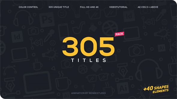 305 Titles Ultimate Pack (Corporate) #Envato #Videohive #aftereffects