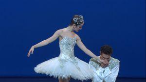 Jewels Joyaux -- screen cap from the Paris Opera Ballet version of Diamonds.
