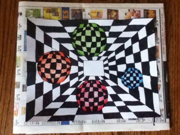 diy optical illusion selber machen optische illusionen und bilder. Black Bedroom Furniture Sets. Home Design Ideas