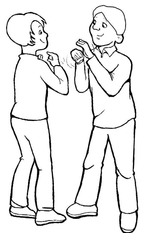 Disabilities Mute Coloring Page