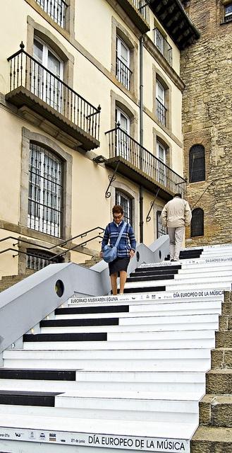 The steps of San Miguel, Vitoria-Gasteiz - (Euskal Herria - Basque Country)