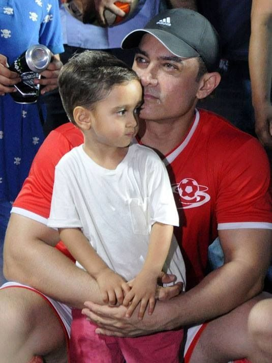 Aamir Khan and his son Azad