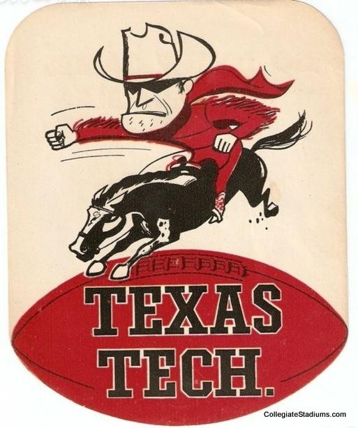 Vintage Texas Tech Red Raider Logo