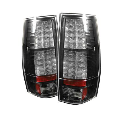 2007-2014 Chevy Suburban, Tahoe / 2007-2014 GMC Yukon, Yukon Denali LED Tail Lights - Black