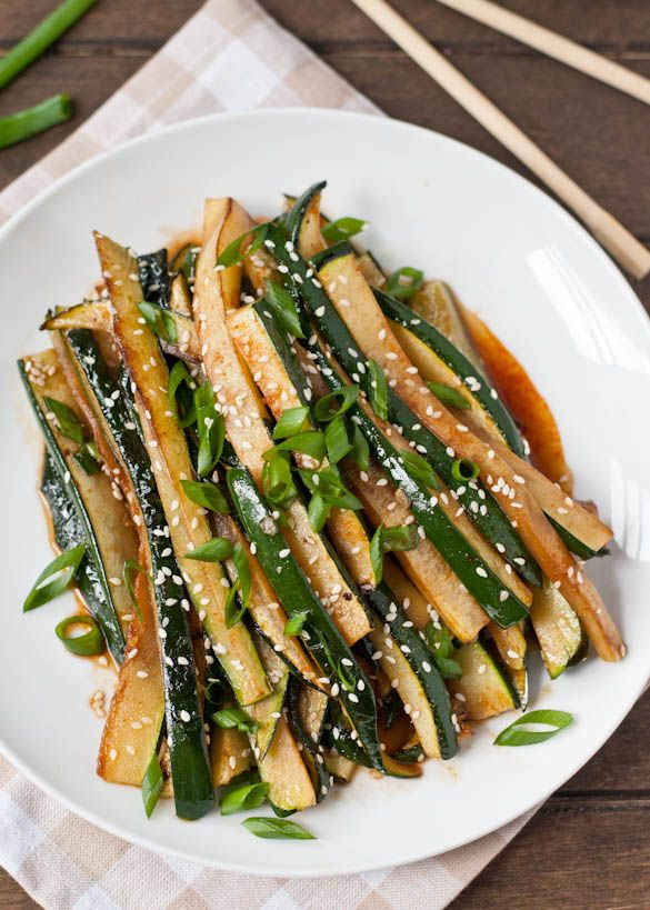 Spicy Asian Zucchini #vegetarian #healthy #recipe