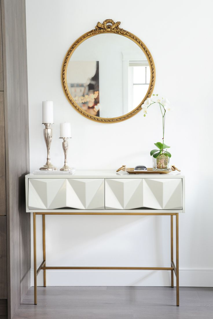 The 25 best antique console table ideas on pinterest mantle antique gold mirror and architectural console table to make for a charming vignette geotapseo Images