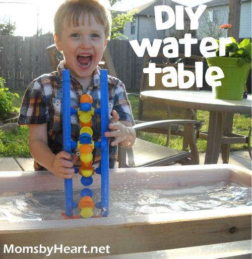 DIY Water Table or Sandbox TutorialMoney Saving Mom, Sensory Tables, Diy Water, Diy Sands, Kids Ideas, Outdoor Play, Sands Boxes, Sands And Water Tables Diy, Water Sands Tables