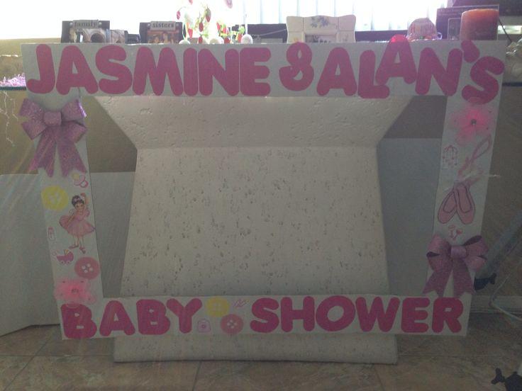 babyshower photo booth frame my creations pinterest. Black Bedroom Furniture Sets. Home Design Ideas