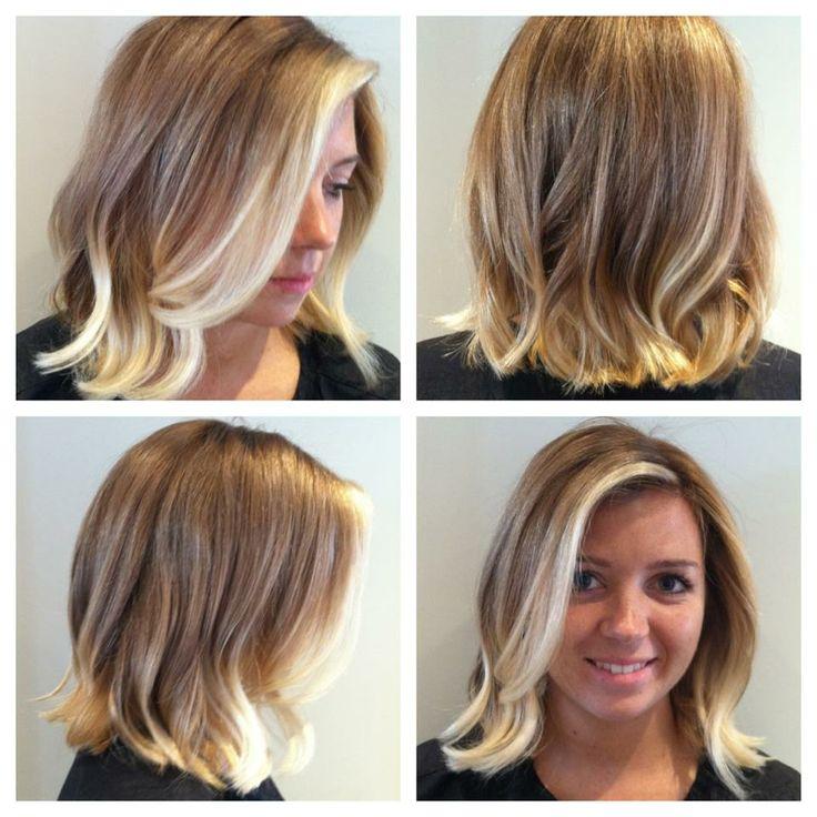 Blonde ombre hair wavy bob by katt salon de cinzia for Ombre mittellang