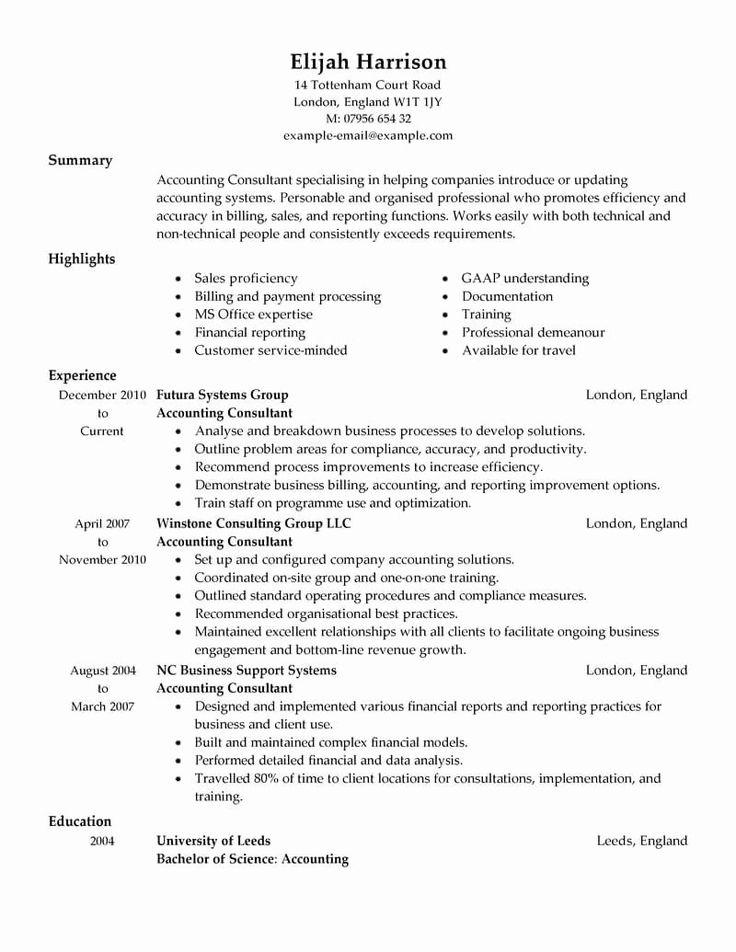 Finance Resume Template Word Unique 8 Amazing Finance