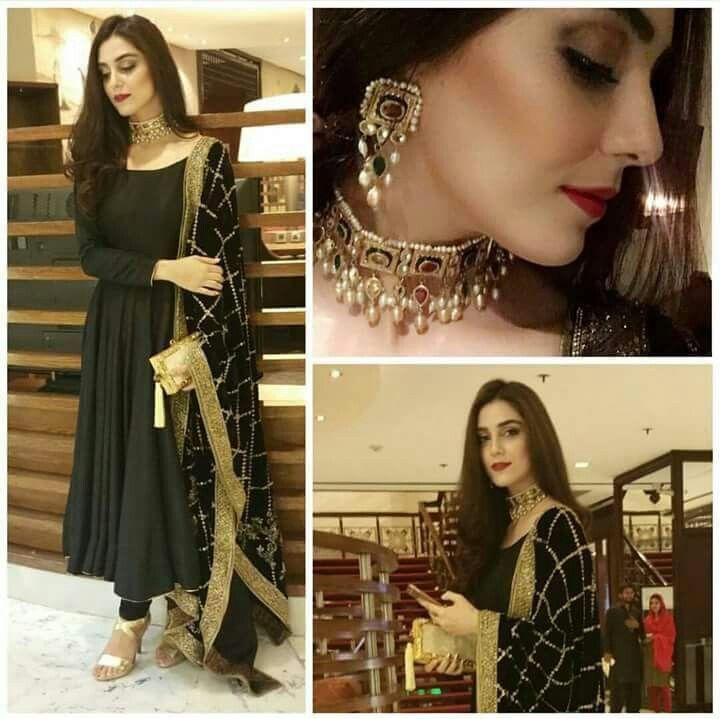 Maya Ali looking pretty at the engagement of Aiman & Muneeb Tonight♥