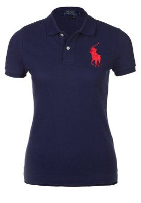 SKINNY FIT POLO - Piké - newport navy