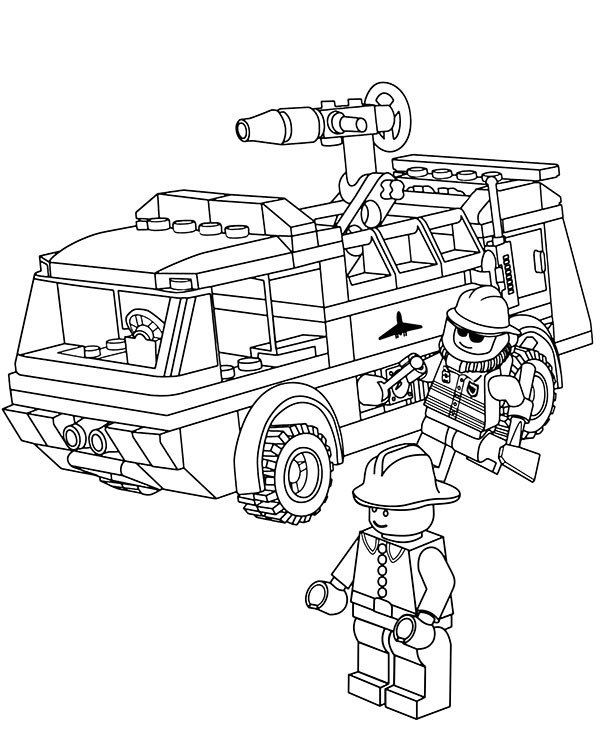 Free Fire Truck Coloring Pages Printable Lego Fire Truck Coloring Page Topcoloringpages In 2020 Lego Coloring Pages Lego Coloring Monster Truck Coloring Pages