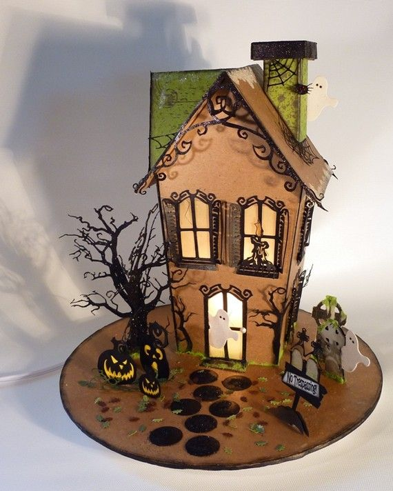 halloween food idea victorian gingerbread house by retiredletsdolunch - Halloween House Pictures