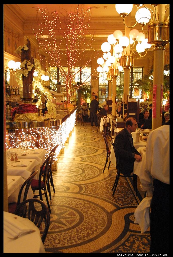 Le Grand Colbert- hidden behind the Palais Royal on rue Vivienne- a Parisian Bistro at its best... As seen in the movie Something's Gotta Give